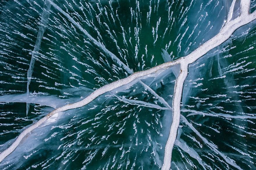 Frozen Ice of Pangong Lake